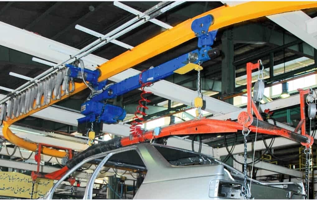 crane in automobile industry